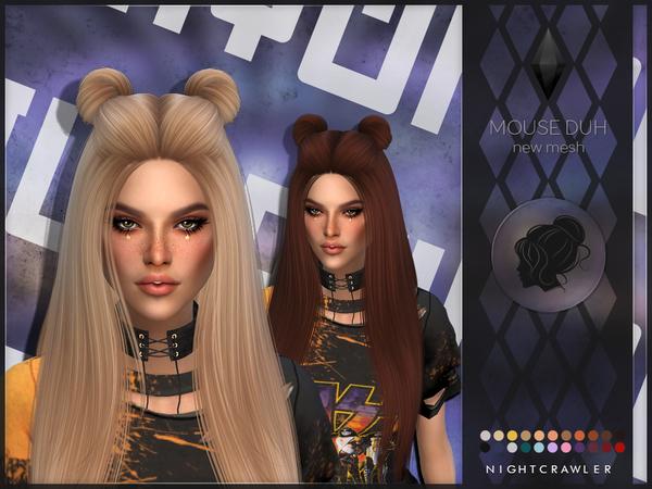 Sims 4 Mouse Duh hair by Nightcrawler Sims at TSR