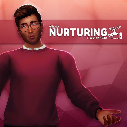 Sims 4 NURTURING custom trait at Pleyita