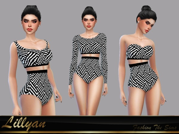 Sims 4 Elegant summer outfit by LYLLYAN at TSR