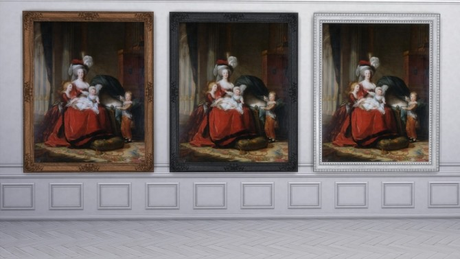 Sims 4 Marie Antoinette and her children paintings by TheJim07 at Mod The Sims