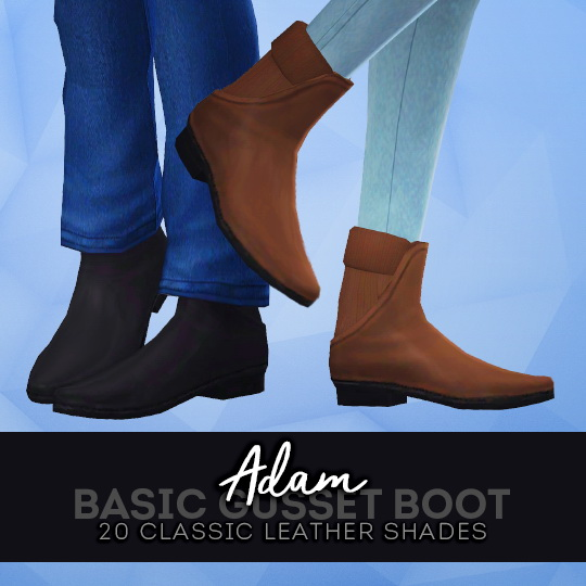 ADAM GUSSET BOOTS at Pleyita image 7916 Sims 4 Updates