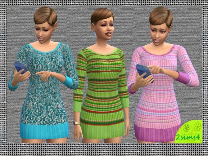 3 mini dresses for autumn by lurania at Mod The Sims image 81 670x503 Sims 4 Updates