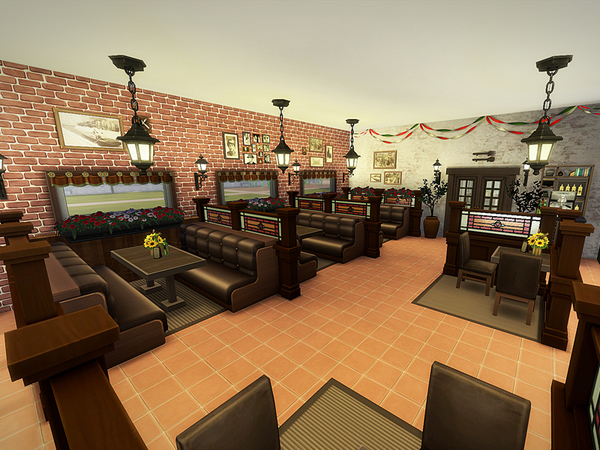 Olives restaurant NO CC by melcastro91 at TSR image 8100 Sims 4 Updates