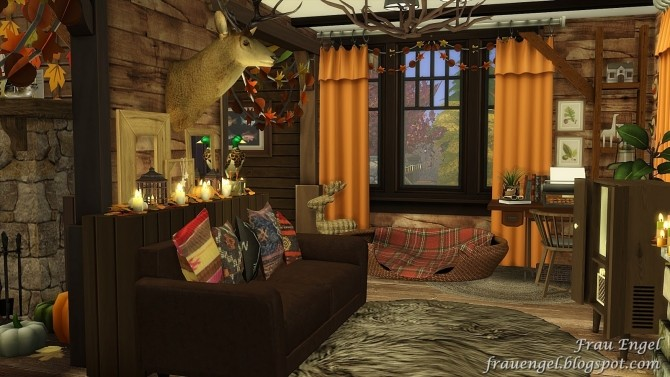 Autumn Paradise house at Frau Engel image 8111 670x377 Sims 4 Updates