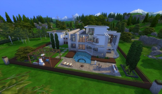 Sims 4 Starlight Drive Mansion by wouterfan at Mod The Sims