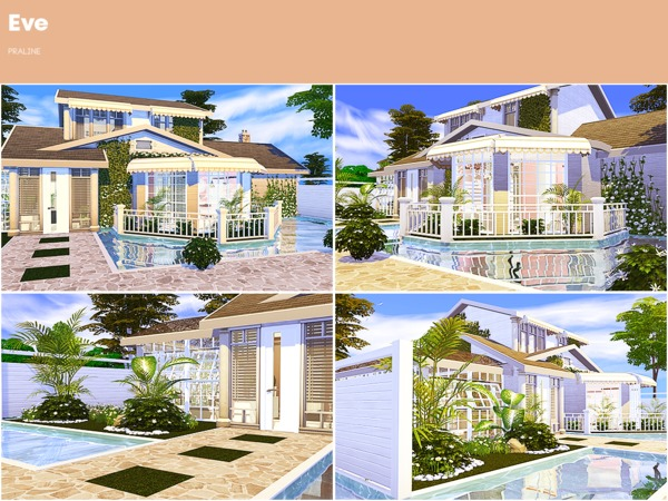 Sims 4 Eve house by Pralinesims at TSR