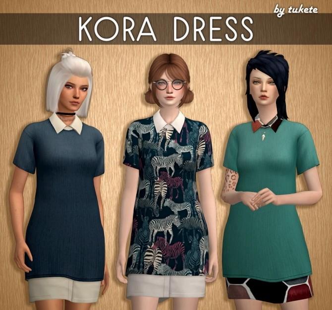 Sims 4 Kora Dress at Tukete