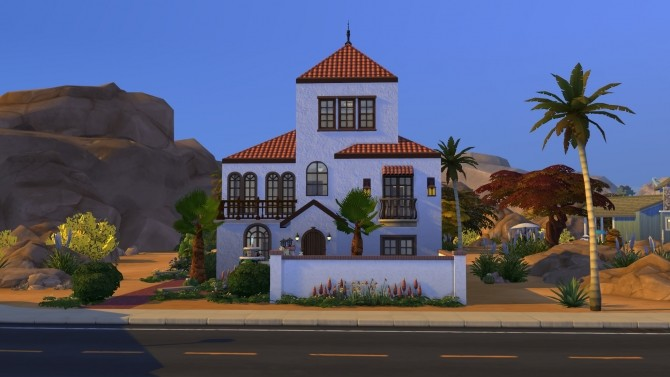 Sims 4 Condensed Mediterranean House by kiimy 2 Sweet at Mod The Sims