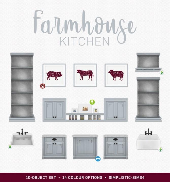 Sims Stuff 4 Kitchen: Farmhouse Kitchen Set At SimPlistic » Sims 4 Updates