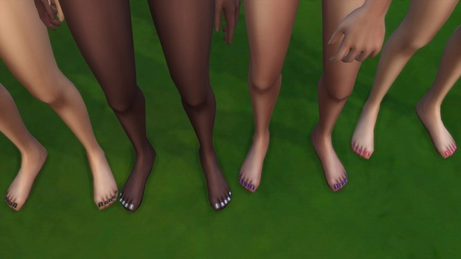Colorful Toenails 4 All by LostNlonelyGrl86 at Mod The Sims image 85 670x377 Sims 4 Updates