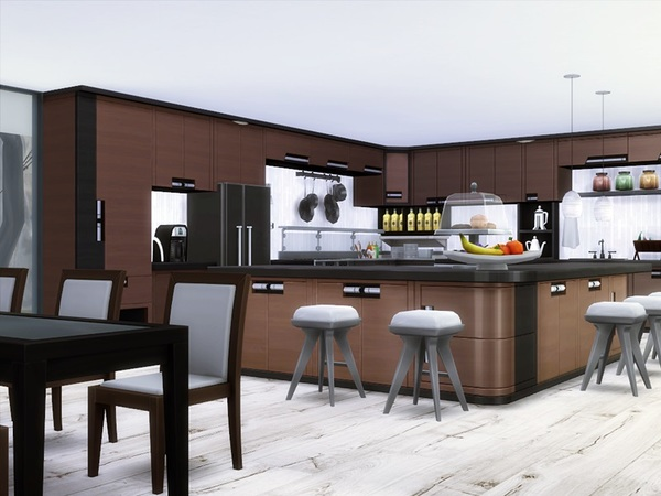Sims 4 Adora modern house by marychabb at TSR