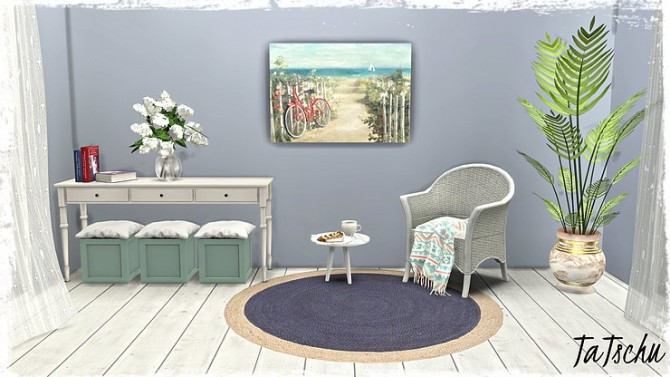 Beach/Coastal Paintings Part1 by TaTschu at Blooming Rosy image 8717 670x377 Sims 4 Updates