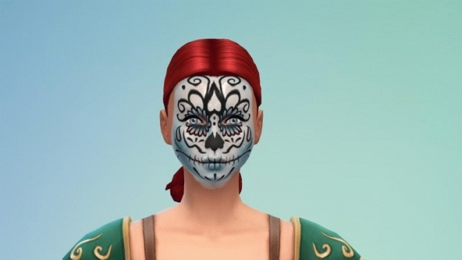 Sims 4 Scary Faces Pack Halloween 2018 at OceanRAZR