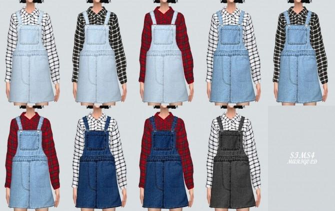Sims 4 Suspender Skirt With Shirts at Marigold