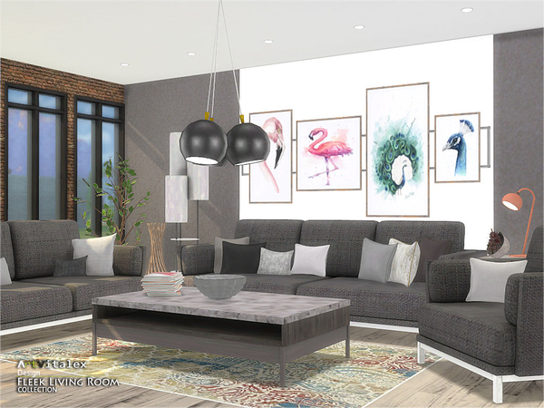 Fleek Living Room by ArtVitalex at TSR image 894 Sims 4 Updates
