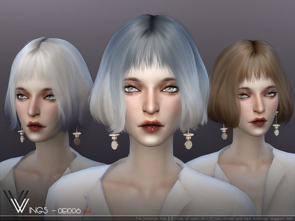 Hair OE1006 by wingssims at TSR image 895 Sims 4 Updates
