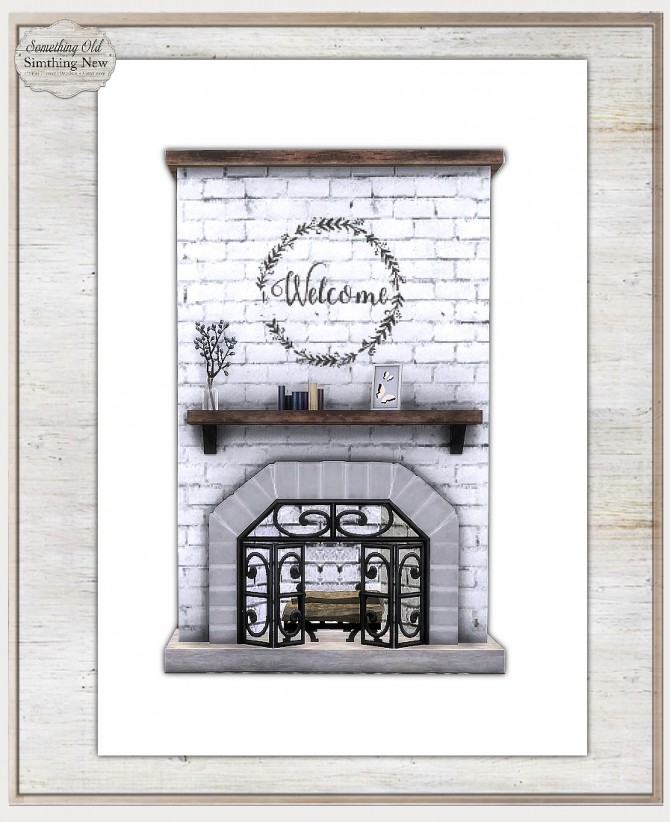 Sims 4 Rustic Fireplace Recolor at Simthing New