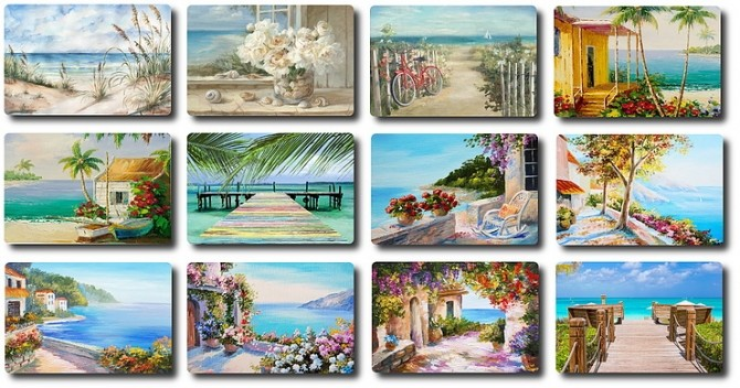 Beach/Coastal Paintings Part1 by TaTschu at Blooming Rosy image 9017 670x352 Sims 4 Updates