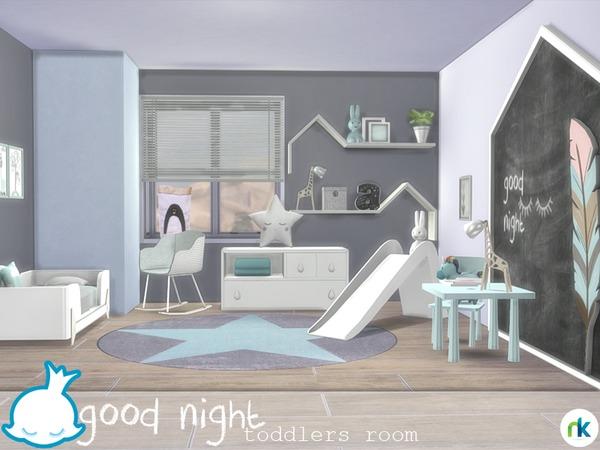 Sims 4 Good Night Toddlers Room by Nikadema at TSR
