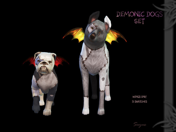 Demonic Dog Set by Suzue at TSR image 9100 Sims 4 Updates