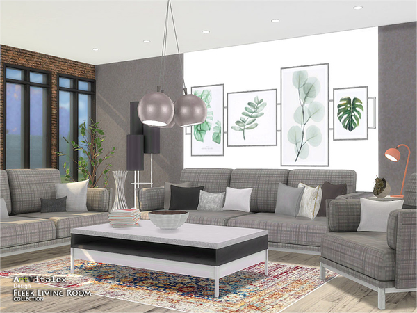 Fleek Living Room by ArtVitalex at TSR image 917 Sims 4 Updates