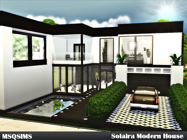Sims 4 Solaira Modern House at MSQ Sims