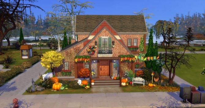 Fall house by Angerouge at Studio Sims Creation image 931 670x355 Sims 4 Updates