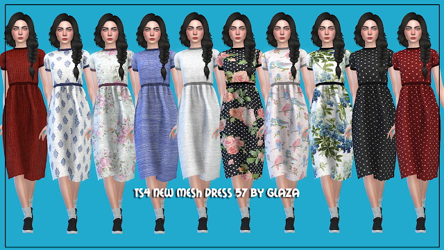 Sims 4 Dress 57 at All by Glaza