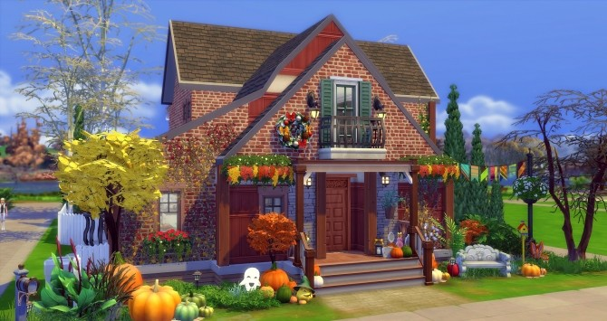 Fall house by Angerouge at Studio Sims Creation image 941 670x355 Sims 4 Updates