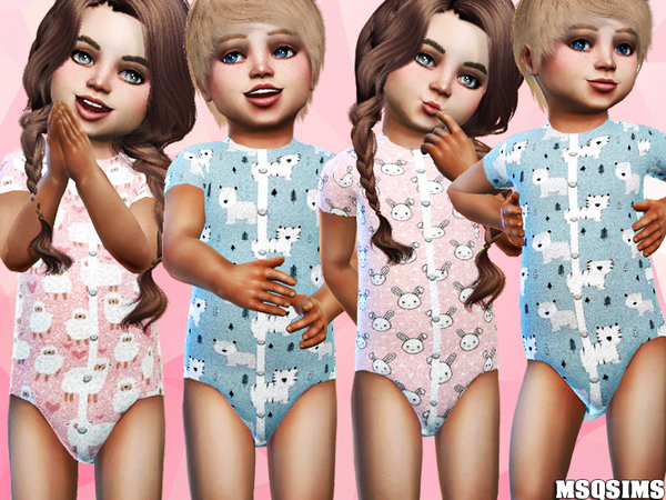 Sims 4 Toddler Short Body Collection 01 at MSQ Sims