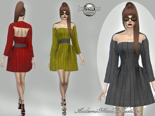 Asdemi wool dress 3 by jomsims at TSR image 954 Sims 4 Updates