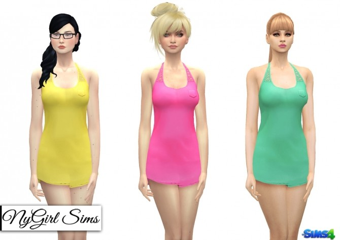 Sims 4 Racerback Night Shirt with Lace at NyGirl Sims