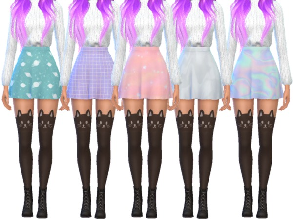 15 Super Snazzy Skater Skirts by Wicked Kittie at TSR image 970 Sims 4 Updates
