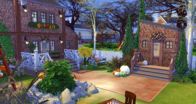 Fall house by Angerouge at Studio Sims Creation image 971 670x355 Sims 4 Updates