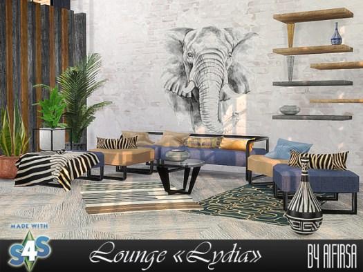 Sims 4 Lydia livingroom at Aifirsa