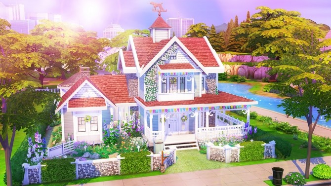Sims 4 Spring Family Home at Aveline Sims