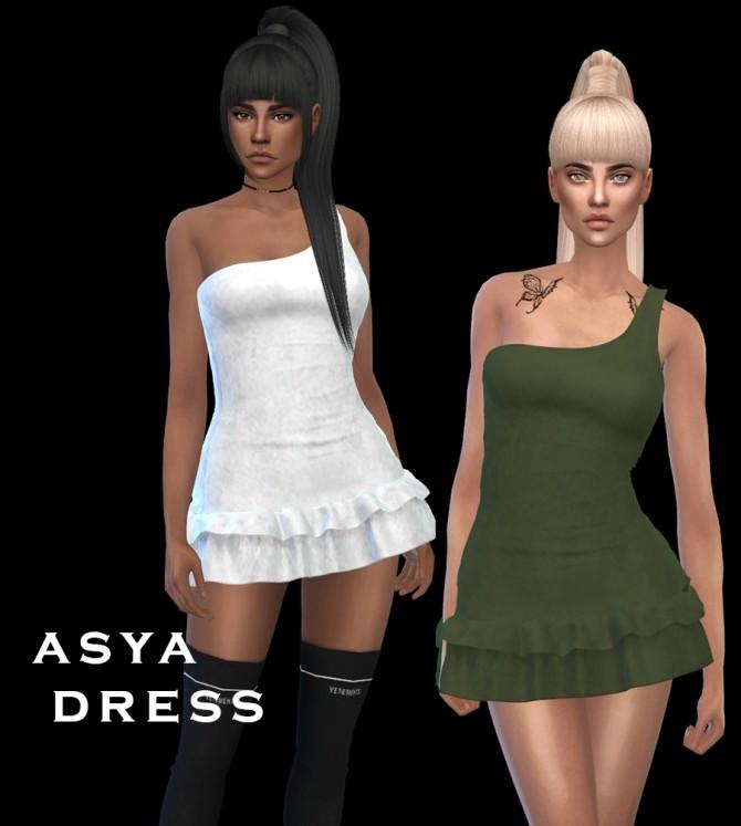 Sims 4 Asya Dress at Leo Sims