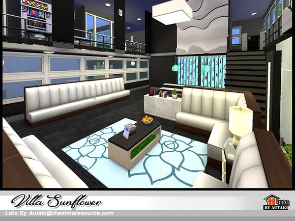 Sims 4 Villa Sunflower NoCC by autaki at TSR