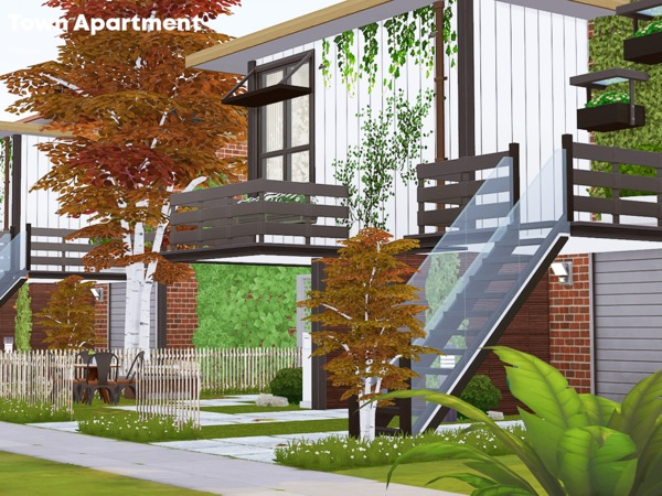 Town Apartment by Pralinesims at TSR image 1017 Sims 4 Updates