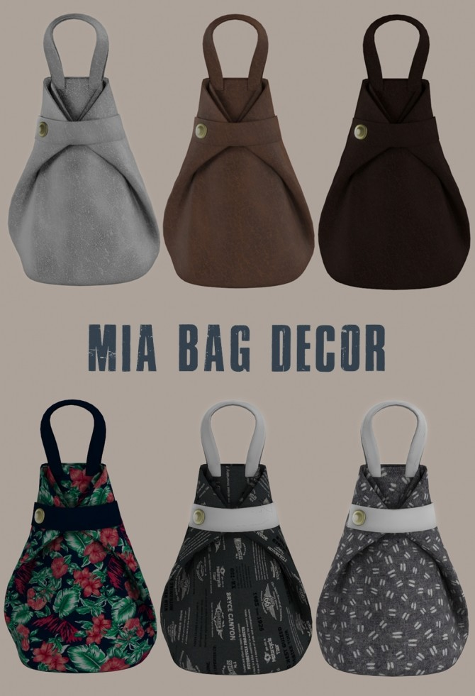 Mia Bag Decor at Leo Sims image 1025 670x981 Sims 4 Updates