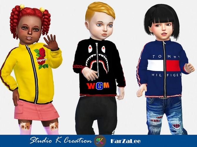 Giruto 63 full zip sweatshirt toddler at Studio K Creation image 103 670x502 Sims 4 Updates