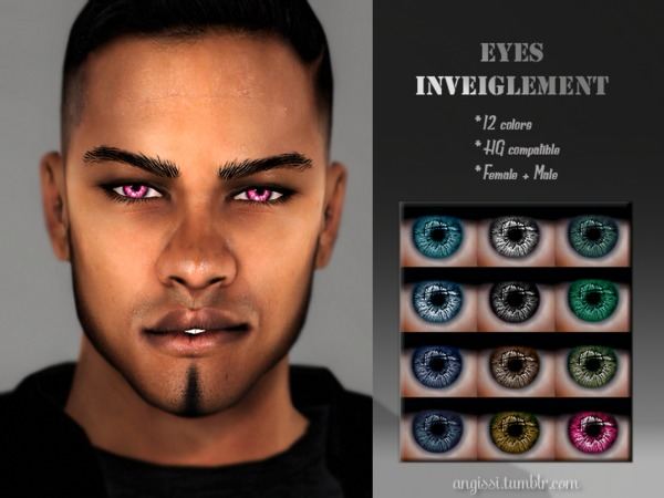 Sims 4 EYES inveiglement by ANGISSI at TSR