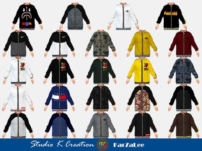 Giruto 63 full zip sweatshirt toddler at Studio K Creation image 104 670x502 Sims 4 Updates