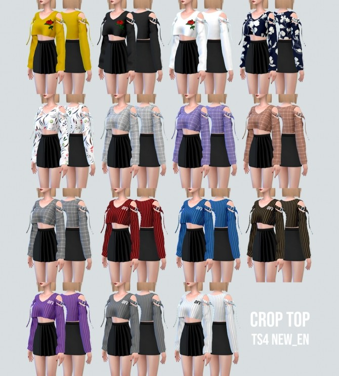 Shoulder Strap Crop Top at NEWEN image 10416 670x744 Sims 4 Updates