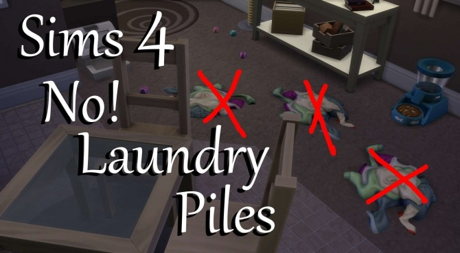Sims 4 No! Laundry Piles by PolarBearSims at Mod The Sims