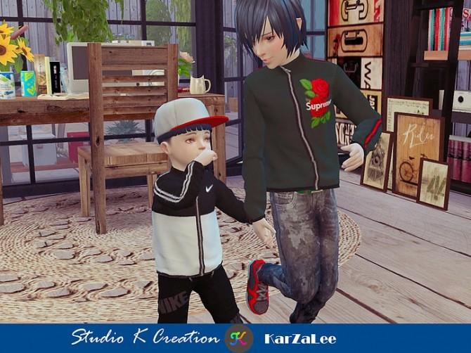 Giruto 63 full zip sweatshirt toddler at Studio K Creation image 105 670x502 Sims 4 Updates