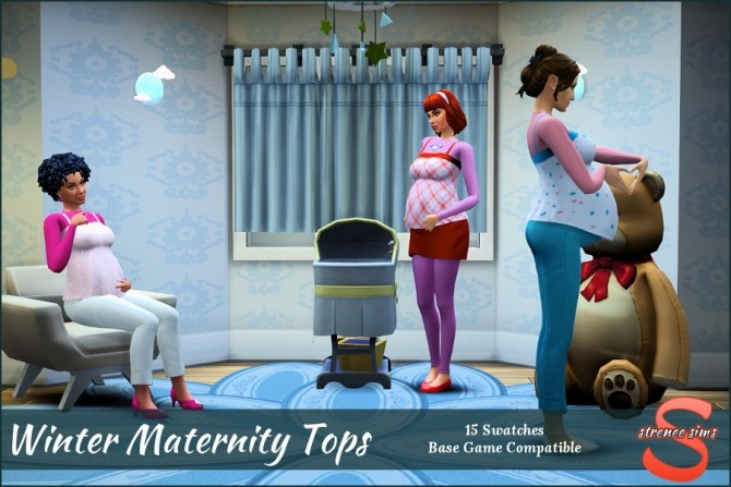 Winter Maternity Tops at Strenee Sims image 10514 670x447 Sims 4 Updates