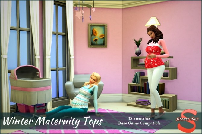 Winter Maternity Tops at Strenee Sims image 10613 670x447 Sims 4 Updates