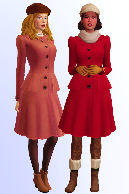 Sims 4 Mr. & Mrs. Fall two coats at Joliebean