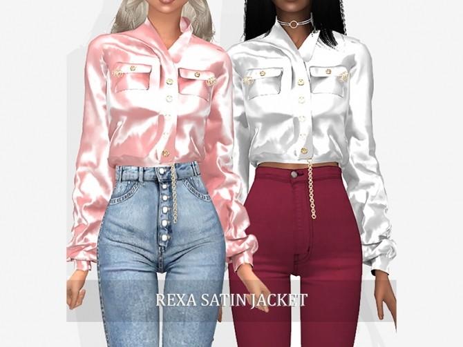 Sims 4 SATIN CLOTHING PACK at Grafity cc